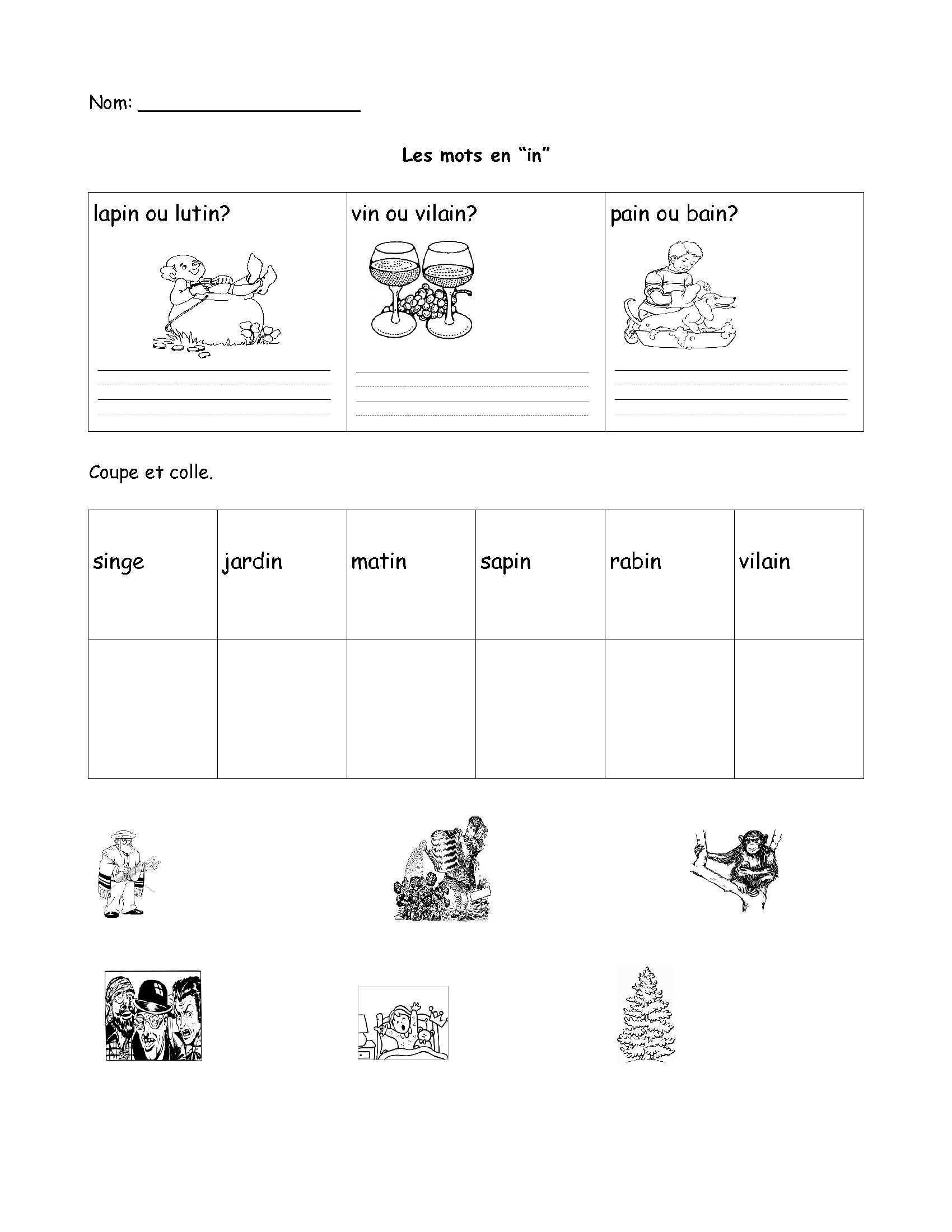 French Printable Worksheets 3 Esl Worksheets for Preschool Worksheets Schools