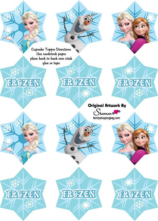 Frozen Cake toppers Printable 12 Free Frozen Party Printables …