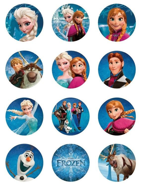 Frozen Cake toppers Printable Frozen Free Printable toppers is It for Parties is It