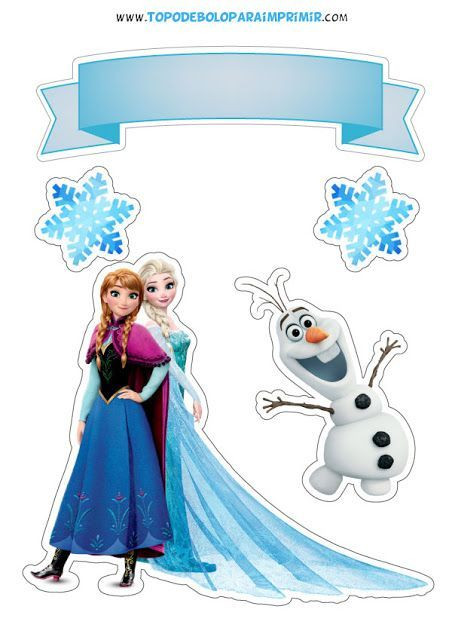 Frozen Cake toppers Printable Pin by Danetta tombarge On Zoeys 5th Birthday In 2020