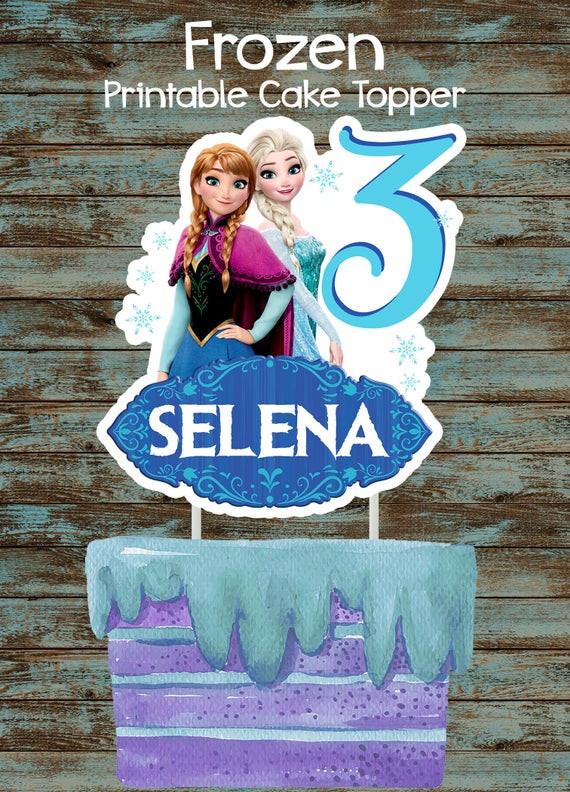 Frozen Cake toppers Printable Printable Frozen Cake topper Frozen Centerpiece Frozen Birthday Party Decorations Disney Frozen Cake topper Disney Frozen Centerpieces