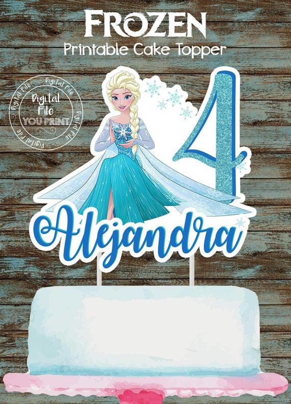 Frozen Cake toppers Printable Printable Frozen Cake topper Frozen Elsa Centerpiece Frozen Elsa Party Decorations Disney Frozen Cake topper Disney Frozen Centerpieces