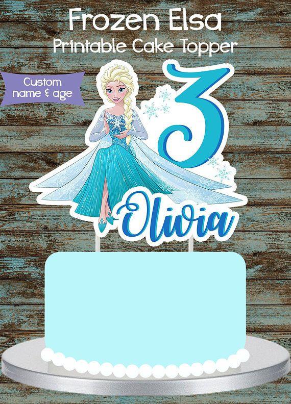 Frozen Cake toppers Printable Printable Frozen Cake topper Frozen Elsa Centerpiece