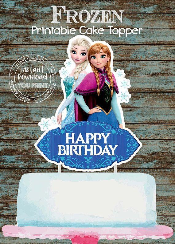 Frozen Cake toppers Printable Printable Frozen topper Frozen Cake topper Frozen