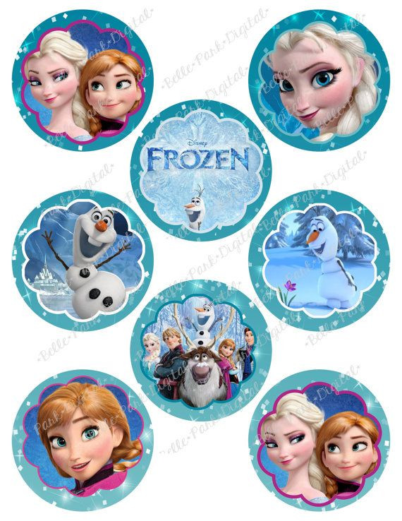 Frozen Cake toppers Printable Two Sheets Of Digital Frozen Printable Birthday Party