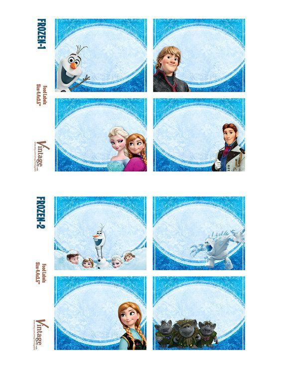 Frozen Free Printable Food Labels Disney Frozen Party Food