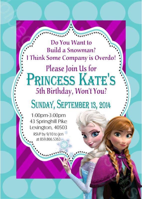 Frozen Invitations Printable Disney Frozen Elsa & Anna Printable Birthday Party