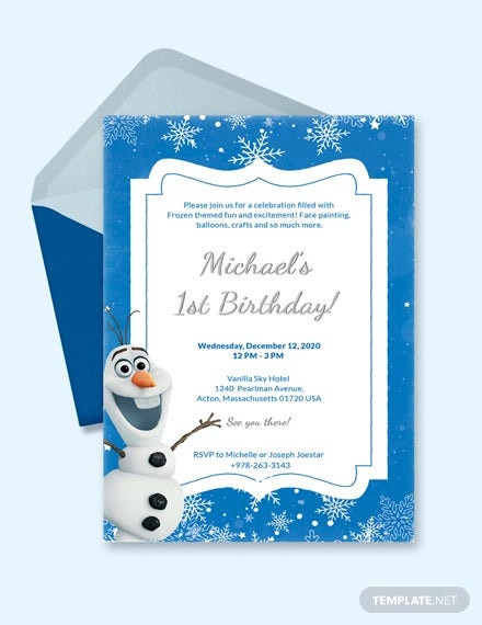 Frozen Invitations Printable Free 13 Frozen Invitation Templates Word Psd Ai