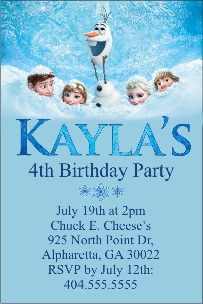 Frozen Invitations Printable Free Frozen Movie Invitation to Personalize