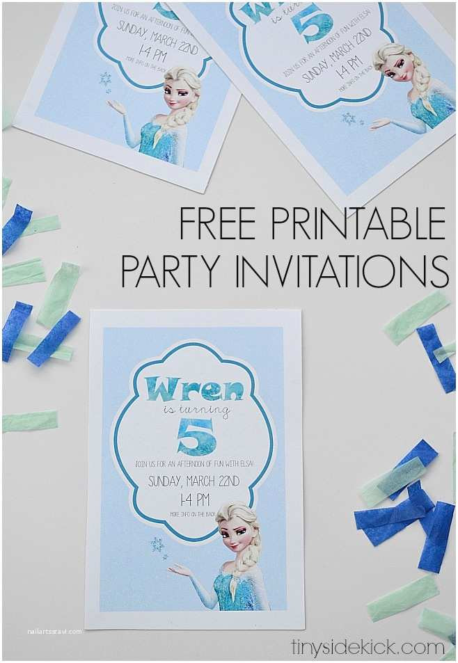 Frozen Invitations Printable Free Personalized Frozen Birthday Invitations Frozen Birthday