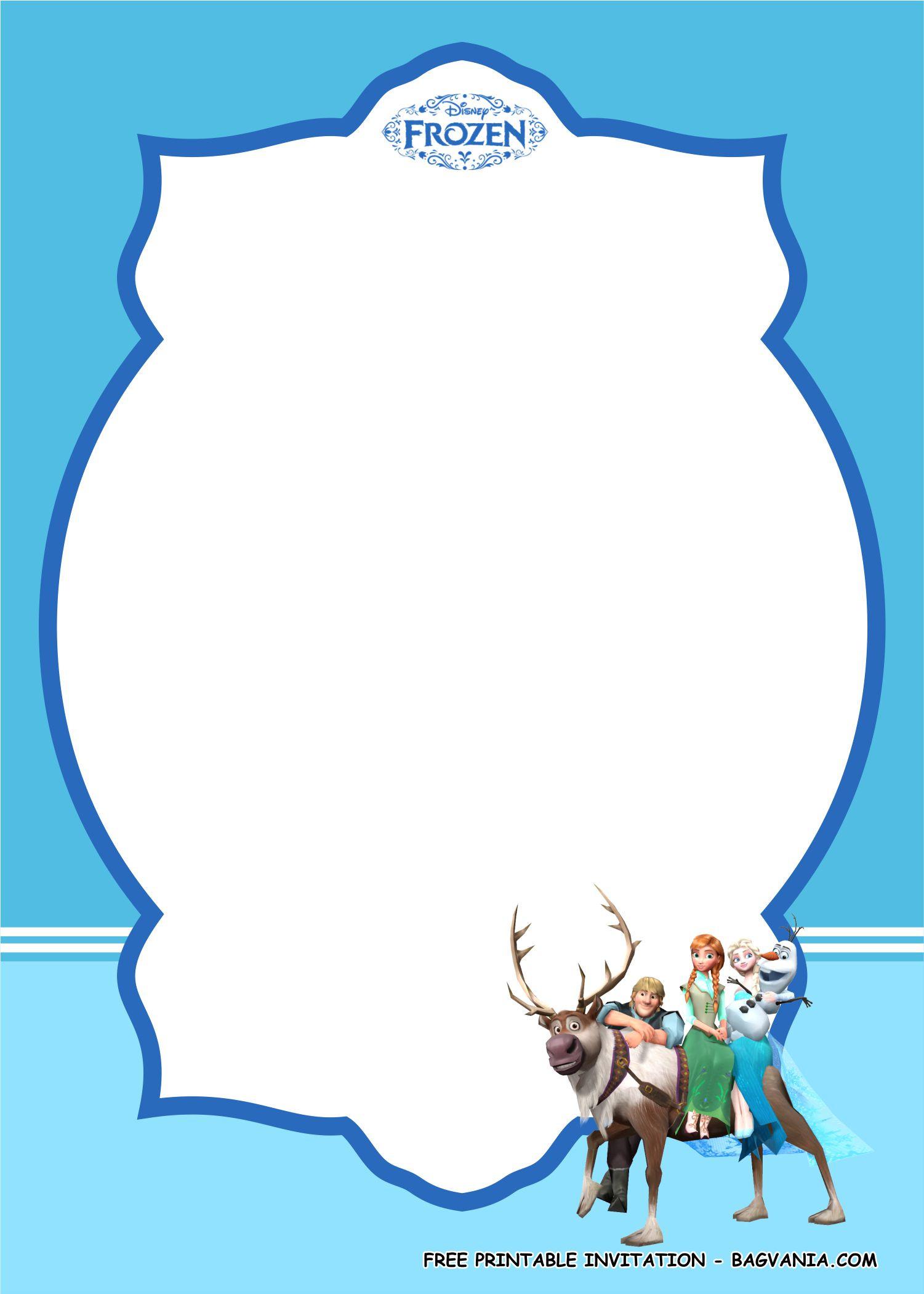 Frozen Invitations Printable Frozen Invitation Templates 1 – Free Printable Birthday