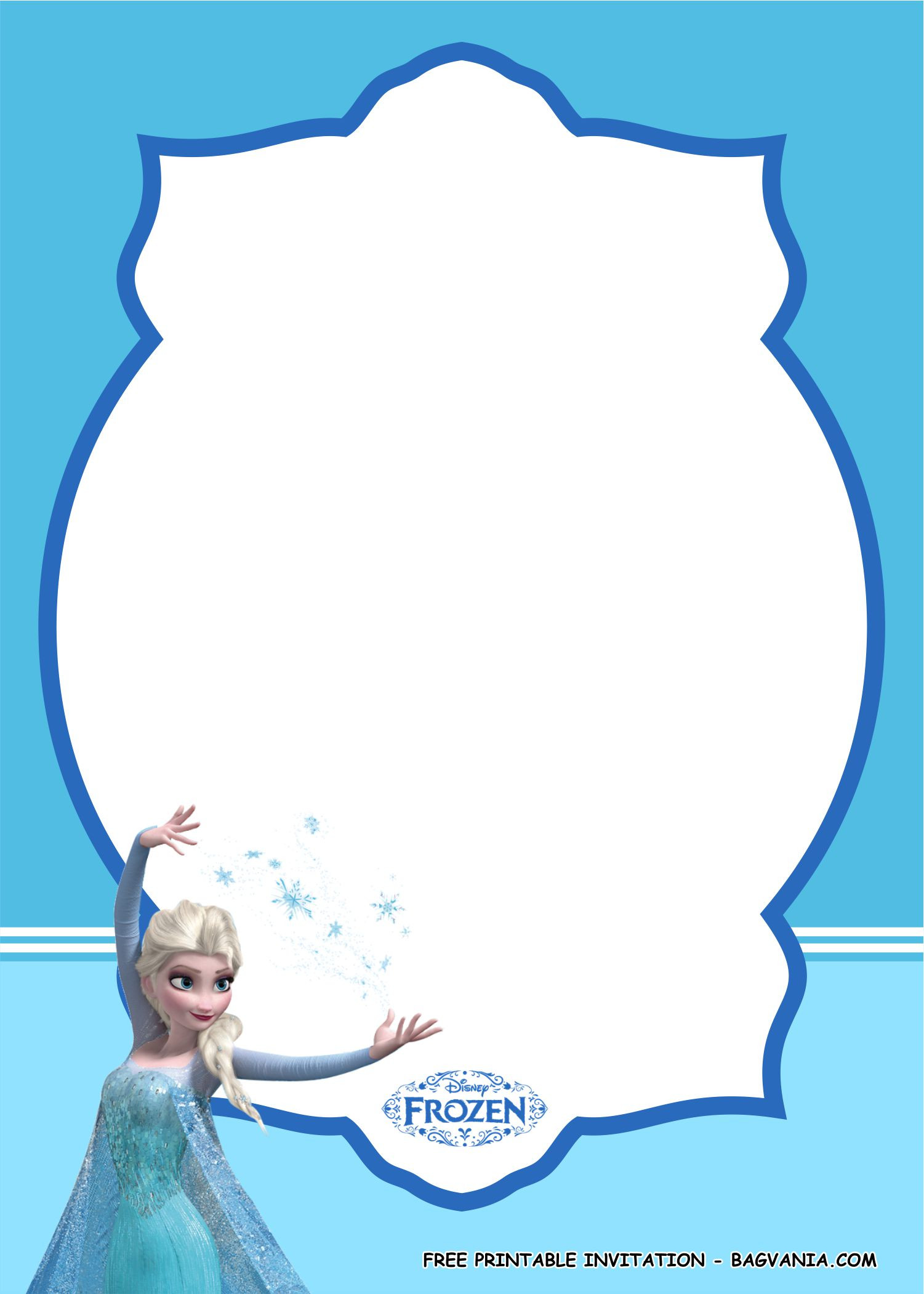 Frozen Invite Printable Free Printable Amazing Frozen Birthday Party Kits – Free