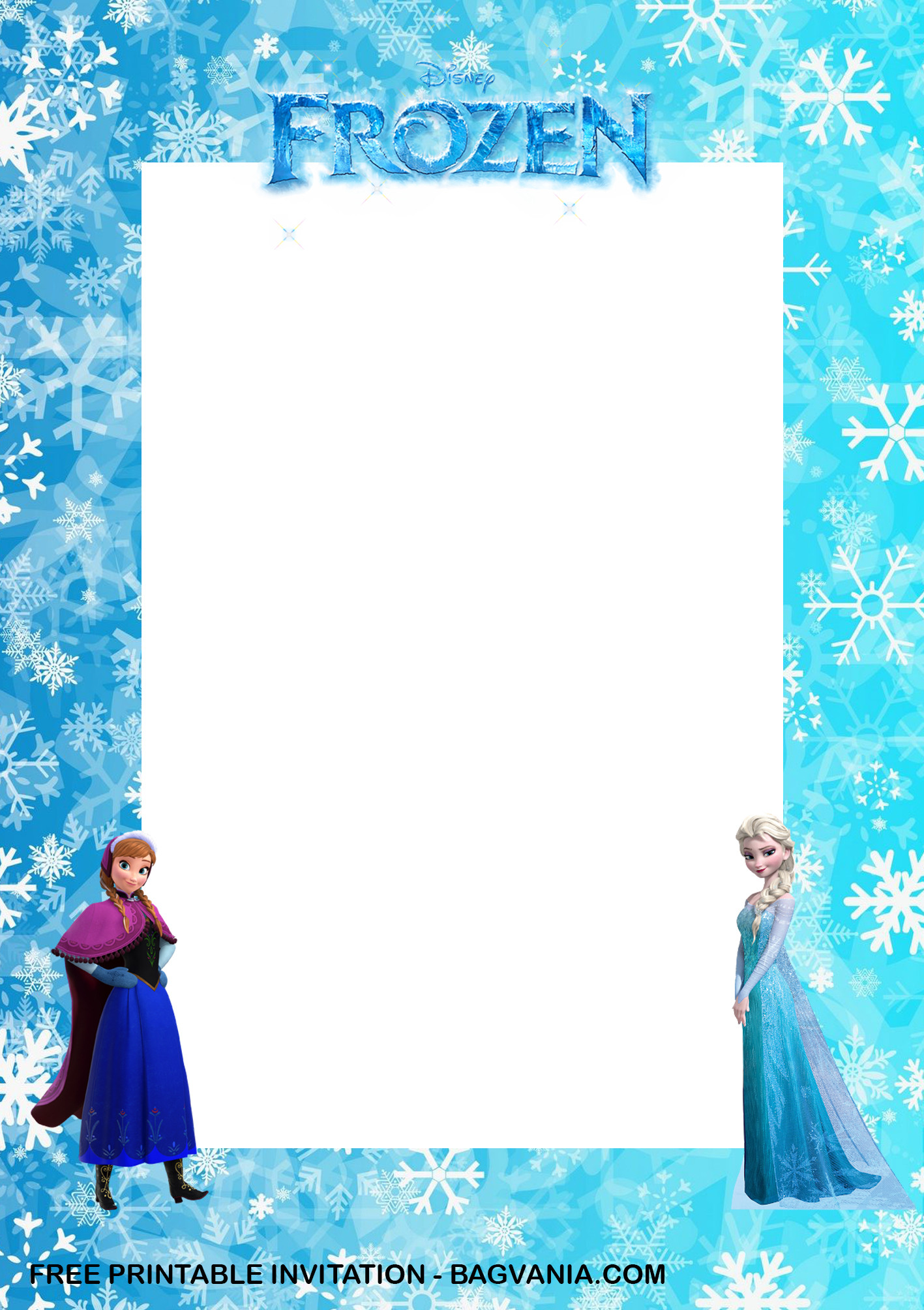 Frozen Invite Printable Free Printable – Anna and Elsa Frozen Birthday Invitation