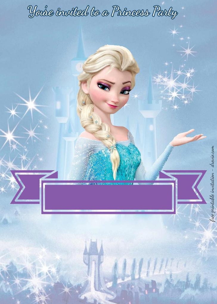 Frozen Invite Printable Free Printable Disney Frozen Birthday Invitations – Cobypic