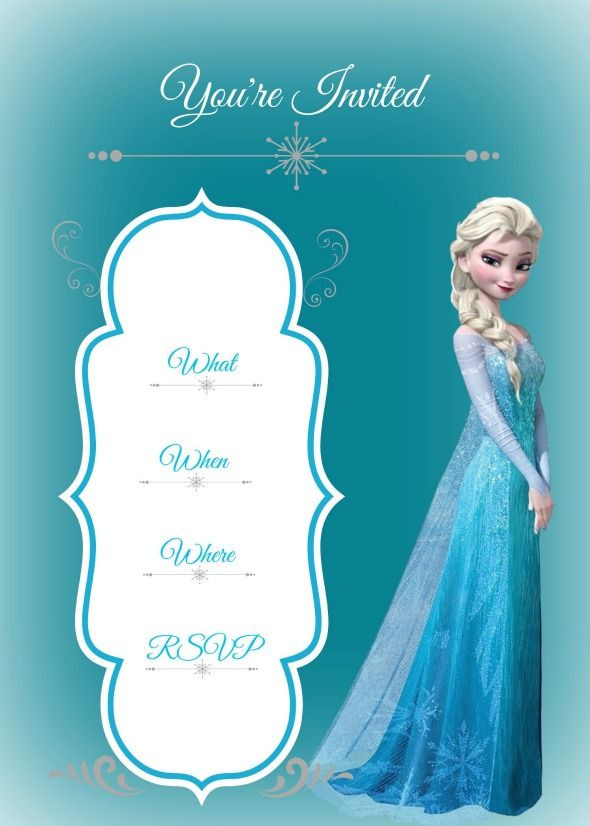 Frozen Invite Printable Frozen Birthday Party Con Imágenes