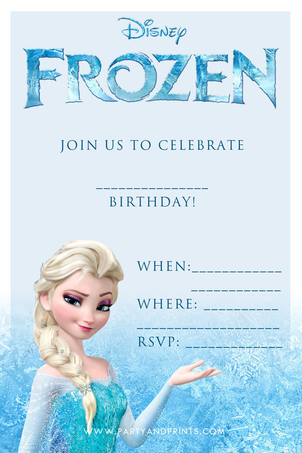 Frozen Invite Printable Frozen Birthday Party Invitations Printable Free Google