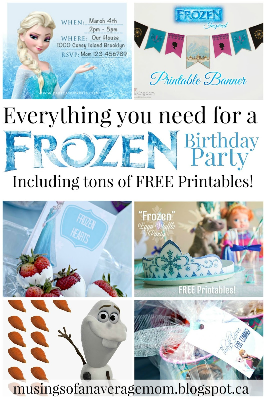 Frozen Invite Printable Musings Of An Average Mom Free Frozen Party Printables