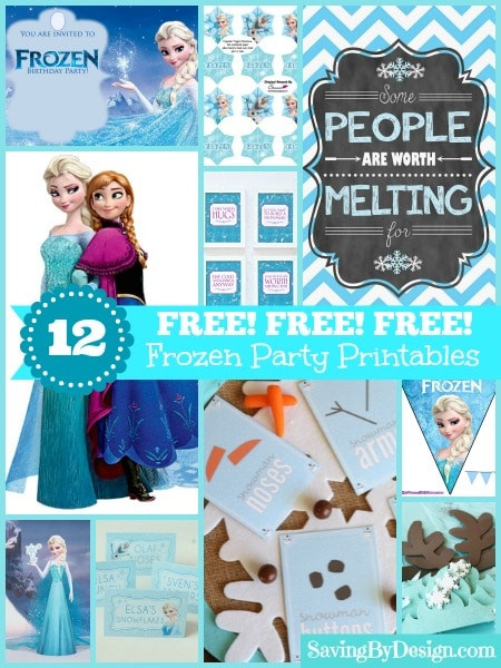 Frozen Printable Birthday Invitations 12 Free Frozen Party Printables Invites Decorations and