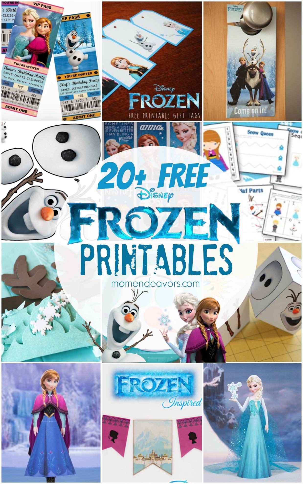 Frozen Printable Birthday Invitations 20 Free Disney Frozen Printables Activity Sheets & Party