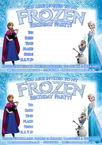 Frozen Printable Birthday Invitations Free Frozen Downloads – Printable Party Invitations