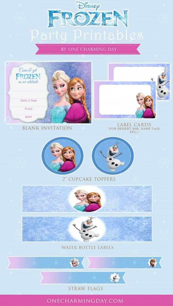 Frozen Printable Birthday Invitations Free Frozen Party Printables