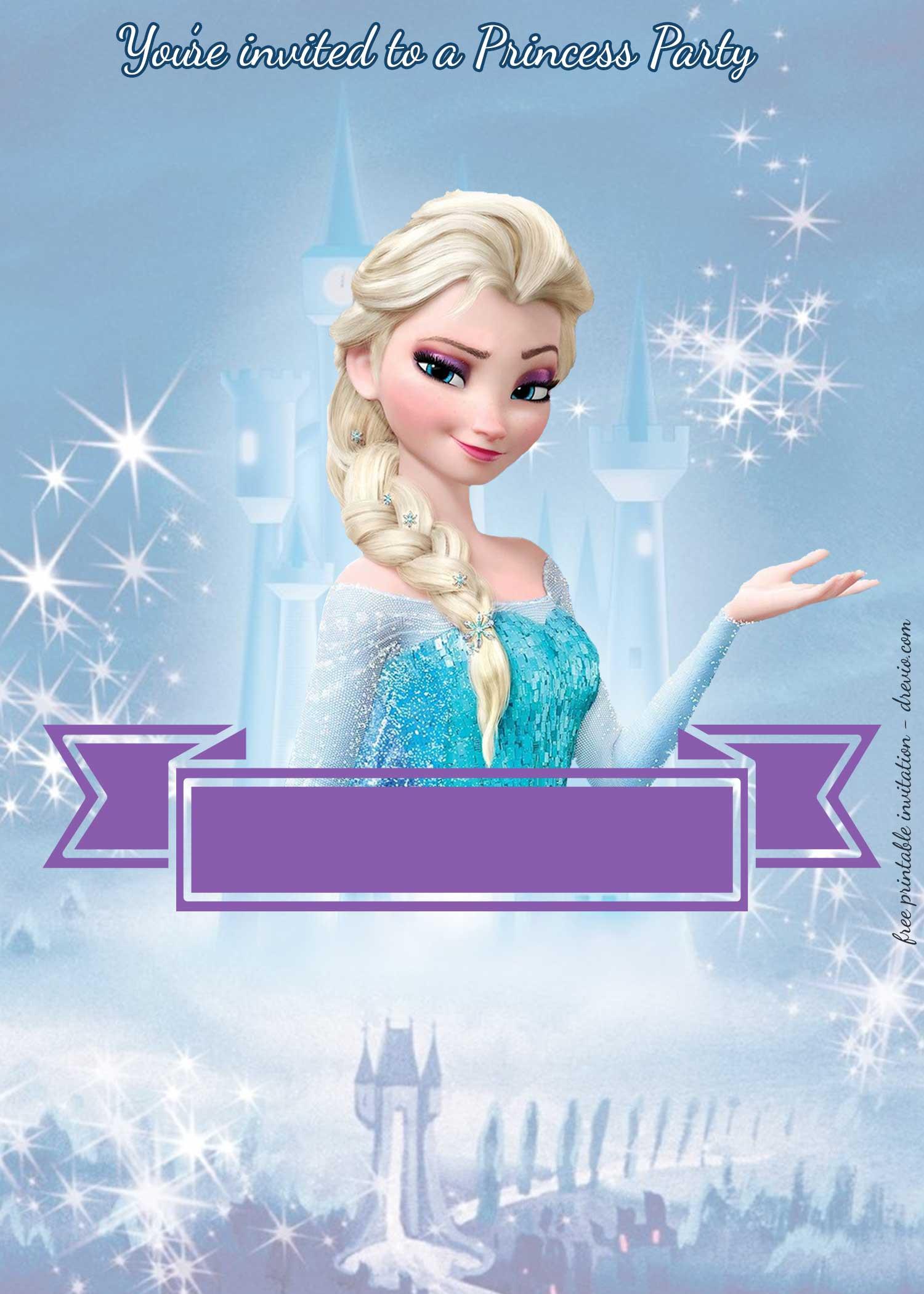 Frozen Printable Birthday Invitations Free Princess Party Invitation—princess Elsa Frozen