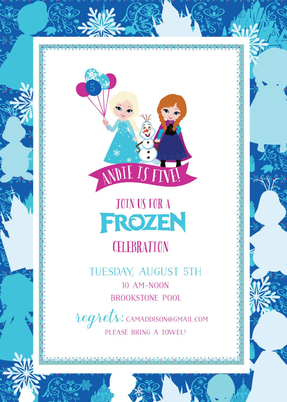 Frozen Printable Birthday Invitations Frozen Birthday Invitation Frozen Printable Invitation Frozen