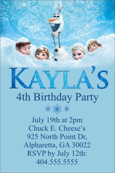 Frozen Printable Birthday Invitations Frozen Movie Invitation to Personalize