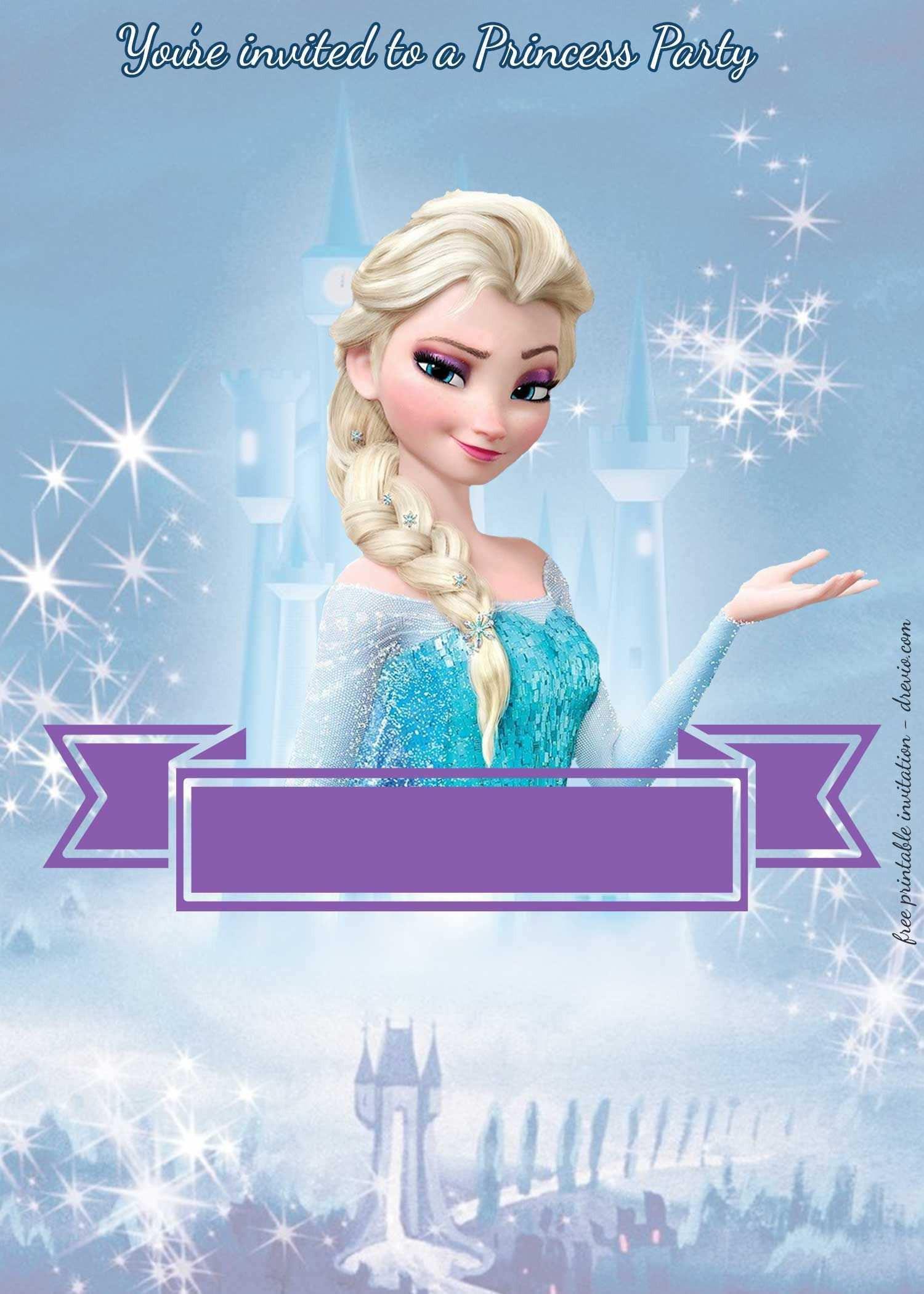 Frozen Printable Invitation 85 Report Frozen Party Invitation Template Download