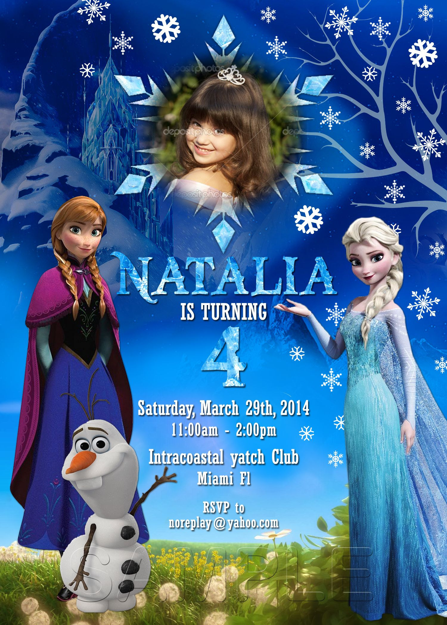 Frozen Printable Invitation Disney Frozen Birthday Frozen Invitation Frozen Party with