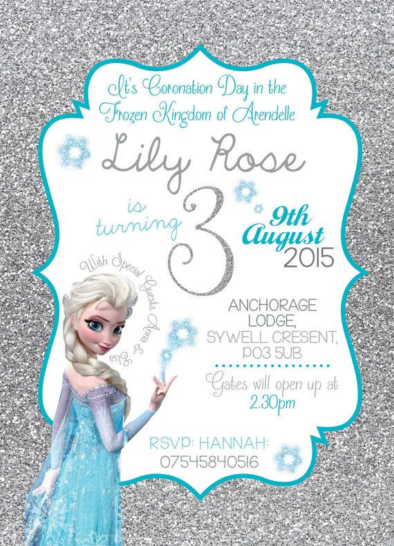 Frozen Printable Invitation Disney Frozen Birthday Party Invitation Queen Elsa