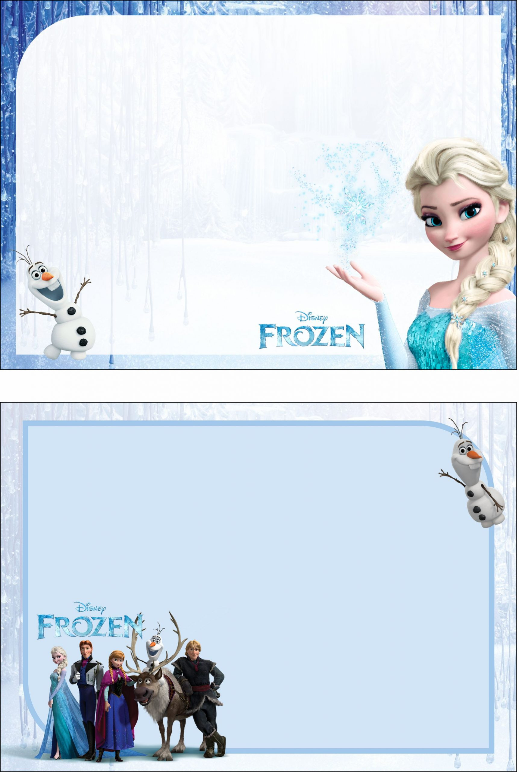 Frozen Printable Invitation Free – Frozen 2 Birthday Party Kit Templates – Free