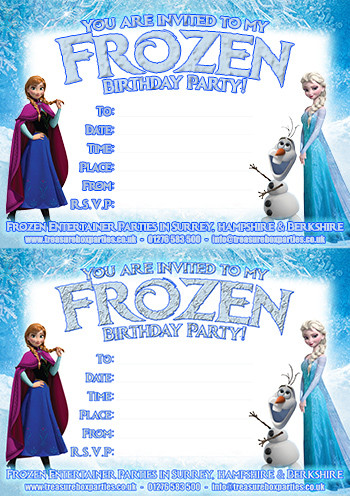 Frozen Printable Invitation Free Frozen Downloads – Printable Party Invitations