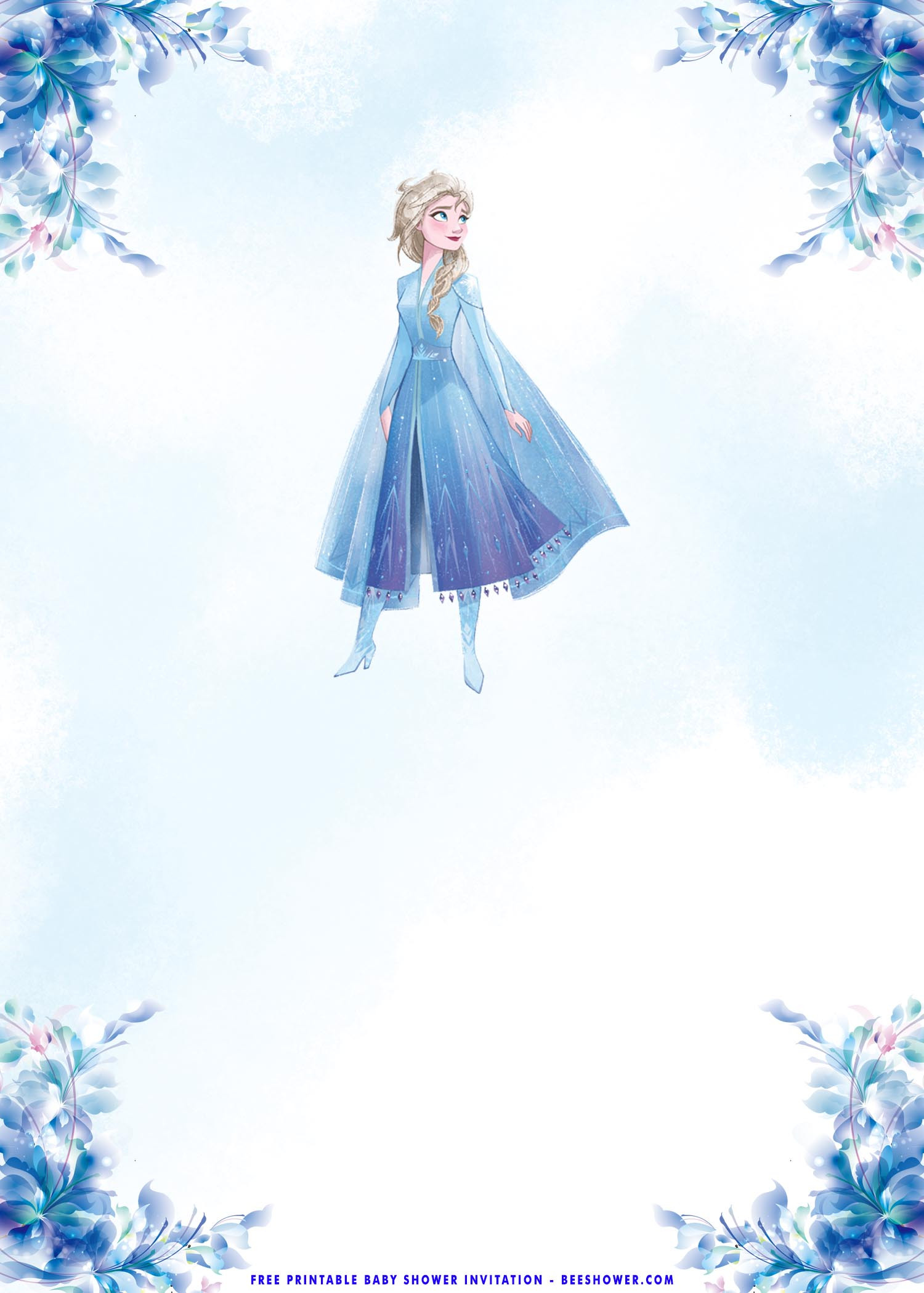 Frozen Printable Invitation Free Printable – Frozen Elsa Baby Shower Invitation