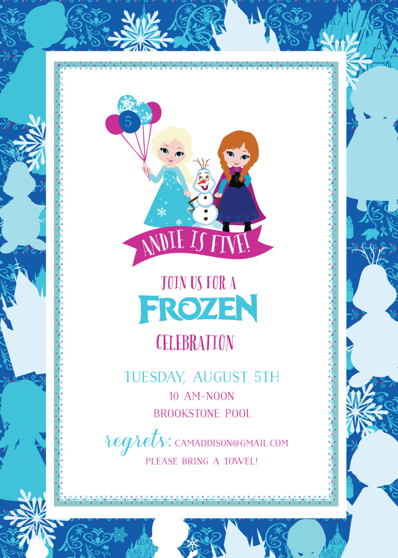 Frozen Printable Invitation Frozen Birthday Invitation Frozen Printable Invitation Frozen