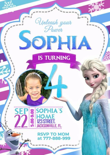 Frozen Printable Invitation Frozen Birthday Party Invitation Digital Personalized & Printable
