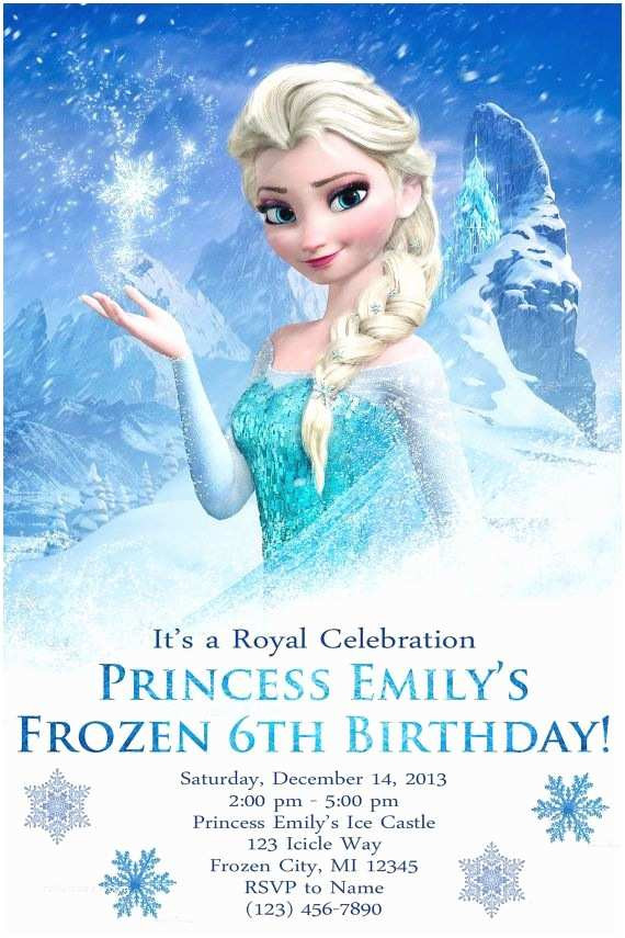 Frozen Printable Invitation Frozen Birthday Party Invitations Customized Frozen Birthday