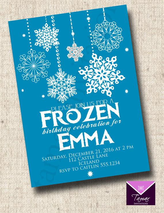 Frozen Printable Invitation Printable Frozen Birthday Invitation