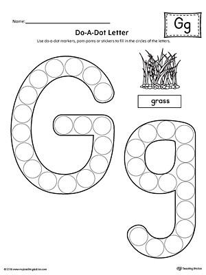 G Worksheets for Preschool Letter G Do A Dot Worksheet