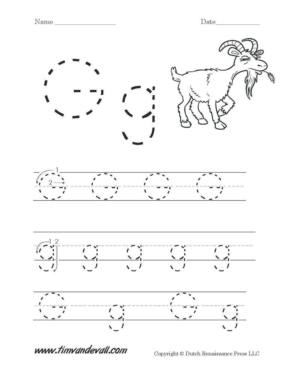 G Worksheets for Preschool Letters Worksheets for Preschoolers Letter G Worksheets