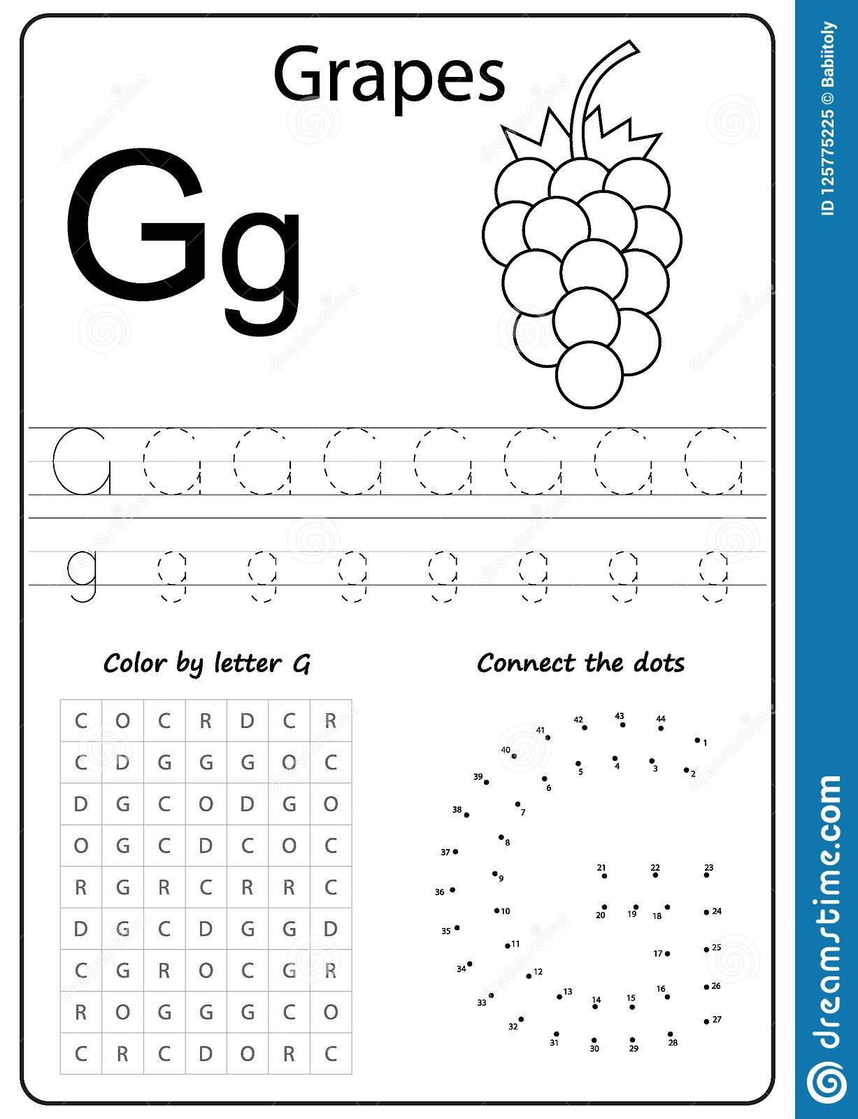 G Worksheets for Preschool Writing Letter G Worksheet Writing A Z Alphabet