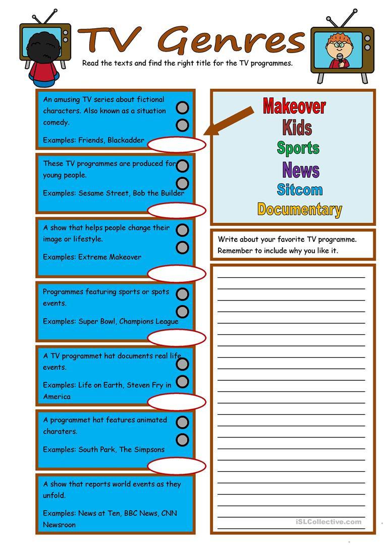 Genre Worksheets 4th Grade English Esl Genres Worksheets Most Ed 24 Results