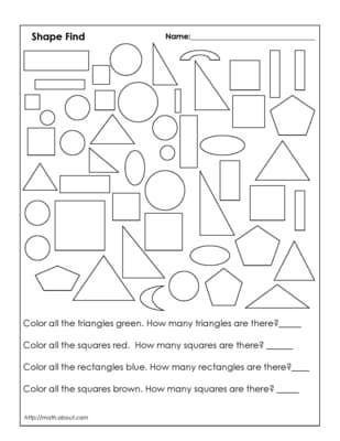 Geometric Shapes Worksheet 2nd Grade 1st Grade Geometry Worksheets for Students