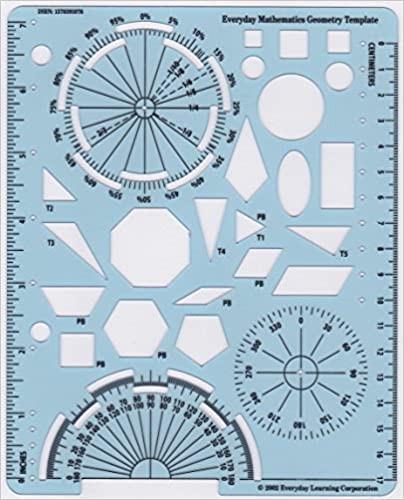 Geometry Template Printable Everyday Mathematics Geometry Template University Of