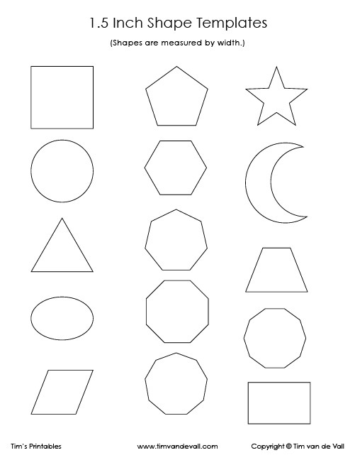 Geometry Template Printable Geometric Shape Templates Archives Tim S Printables