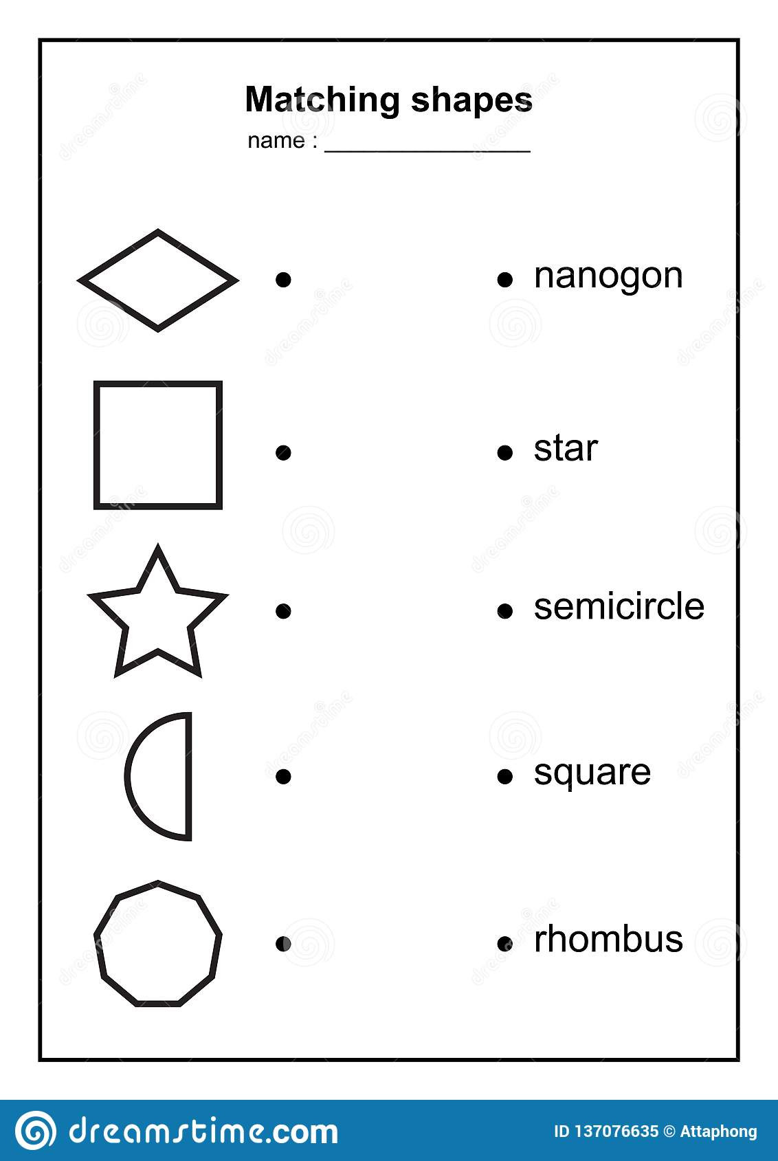 Geometry Template Printable Geometry Shape Matching Game Educational Geometric Shapes