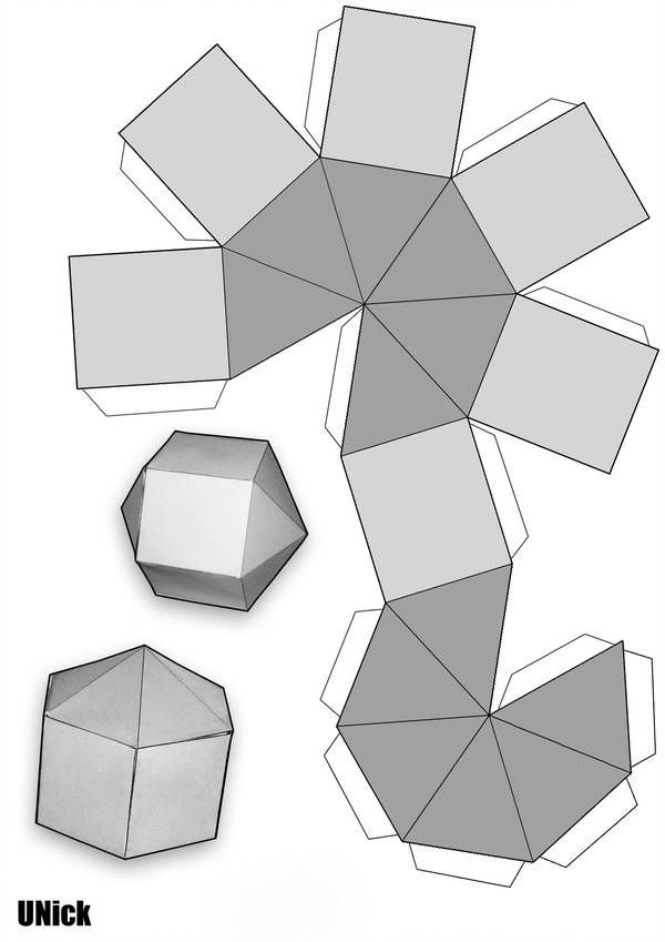 Geometry Template Printable Make Youself A Low Poly Sphere by Vortexnl