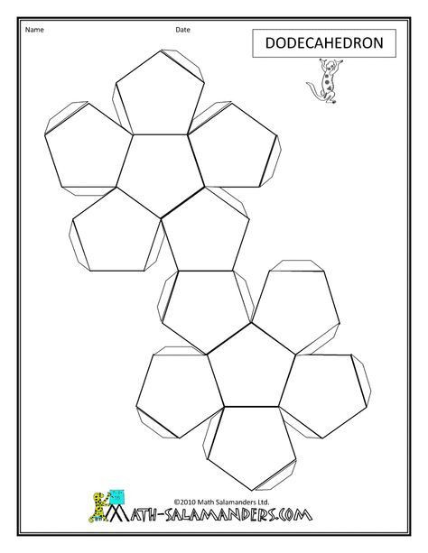 Geometry Template Printable Paper Models for Download Nets