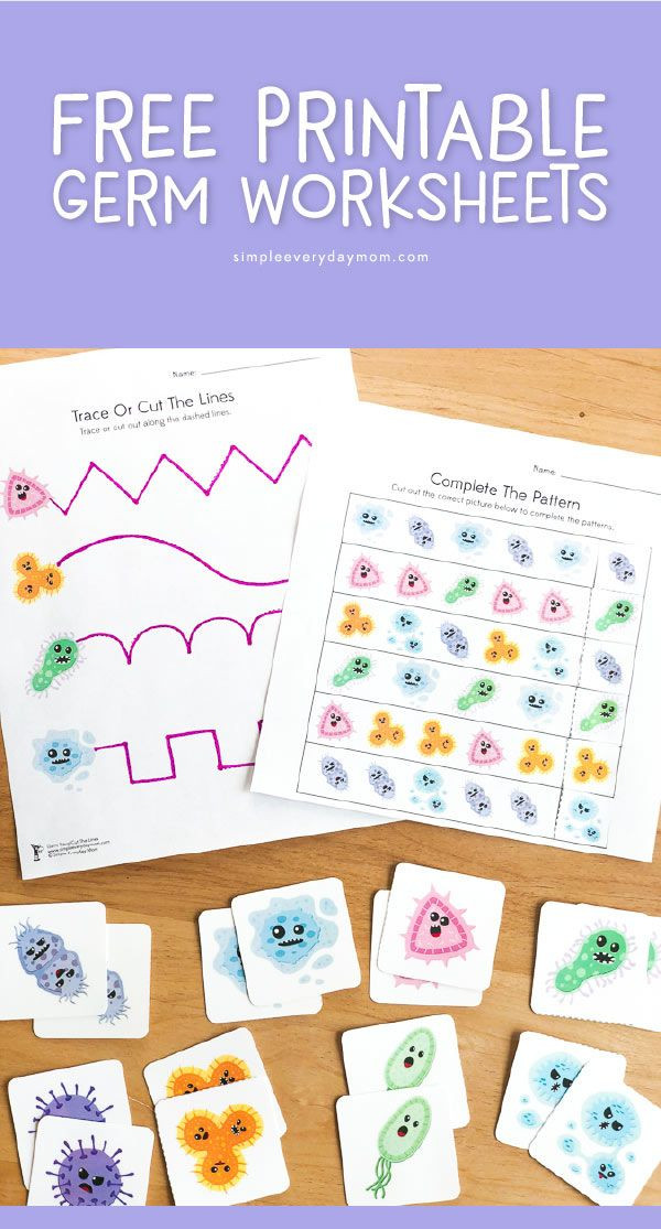 Germs Worksheets for Kindergarten Free Printable Germ Worksheets for Kindergarten