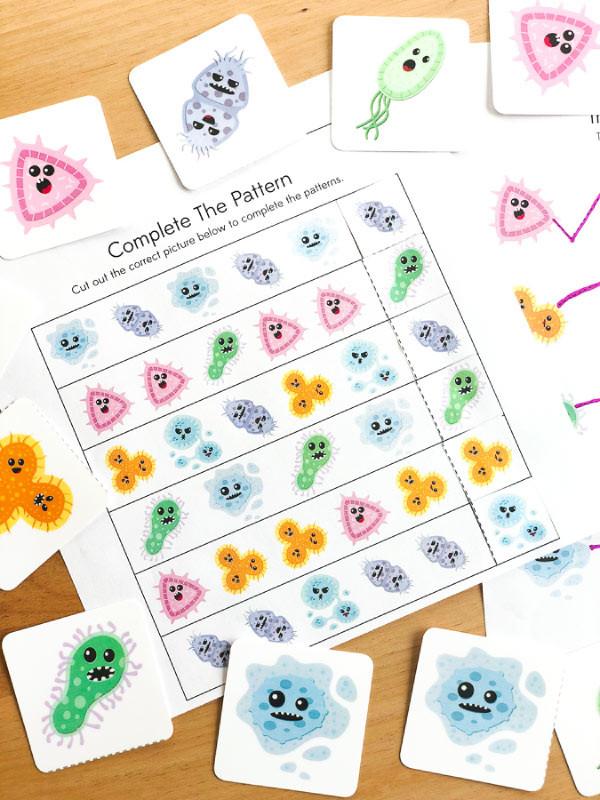 Germs Worksheets for Kindergarten Free Printable Germ Worksheets for Kindergarten